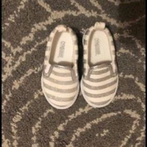 Gymboree Silver and White Toddler Shoes